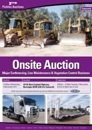 Download the 4 page flyer - Pickles Auctions