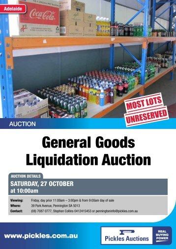 General Goods Liquidation Auction - Pickles Auctions