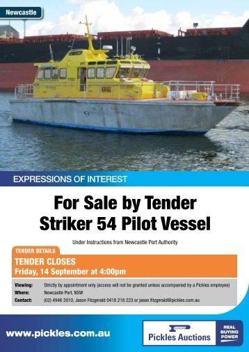 For Sale by Tender Striker 54 Pilot Vessel - Pickles Auctions
