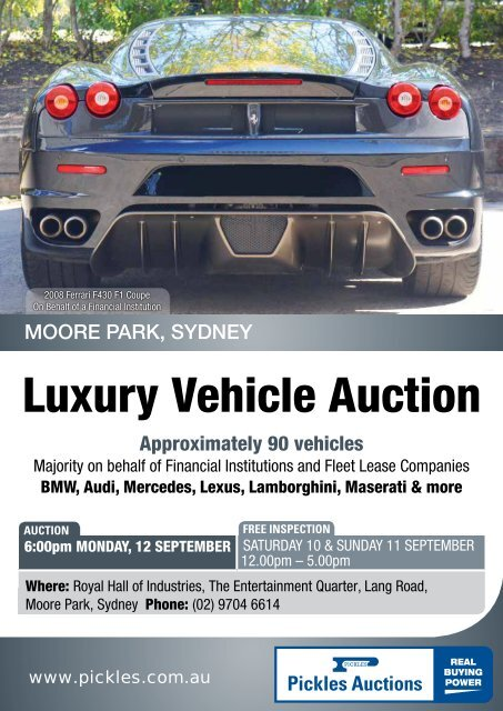 Luxury Vehicle Auction - Pickles Auctions