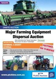 Major Farming Equipment Dispersal Auction - Pickles Auctions