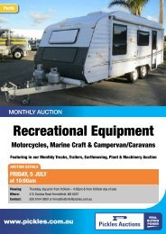 Download the Recreational Equipment 4 page flyer - Pickles Auctions
