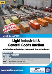 Download the 3 page flyer - Pickles Auctions