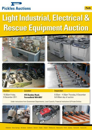 Light Industrial, Electrical & Rescue Equipment ... - Pickles Auctions