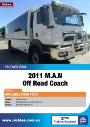 2011 M.A.N Off Road Coach - Pickles Auctions