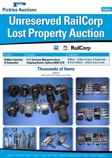 Unreserved RailCorp Lost Property Auction - Pickles Auctions