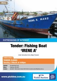Tender: Fishing Boat 'IRENE A' - Pickles Auctions