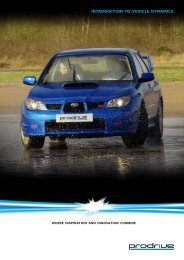 introduction to vehicle dynamics - Prodrive