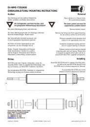 MOTORHOME CHASSIS LISTINGS (Standard Suspension)