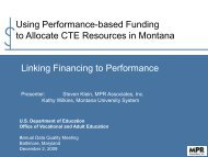 Linking Financing to Performance - U.S. Department of Education