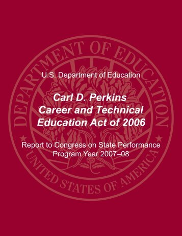 Report - Perkins Collaborative Resource Network - U.S. Department ...