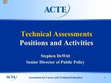 CTE Professional Organization Perspective - ACTE