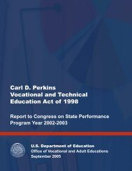 Carl D. Perkins Vocational and Technical Education Act of 1998