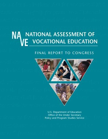 National Assessment of Vocational Education - Perkins ...