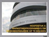 hoofdstuk 5: marketingprogramma's om merkmeerwaarde ... - Pearson