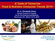 A Taste of Tomorrow Food & Nutrition Consumer Trends 2013+