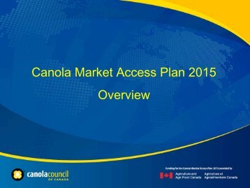 CMAP Overview - Canola Council of Canada