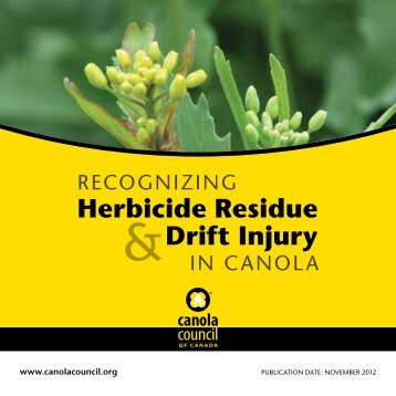 Herbicide Residue Drift Injury - Canola Council of Canada