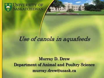 Aquaculture - Canola Council of Canada