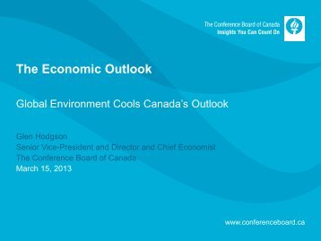 Global Economic Outlook - Canola Council of Canada