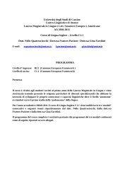 Università degli Studi di Cassino Centro Linguistico ... - Unicasorienta