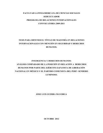 facultad latinoamericana de ciencias sociales sede ... - Flacso Andes