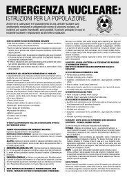 Cosa fare in caso di incidente nucleare - Greenpeace Italia