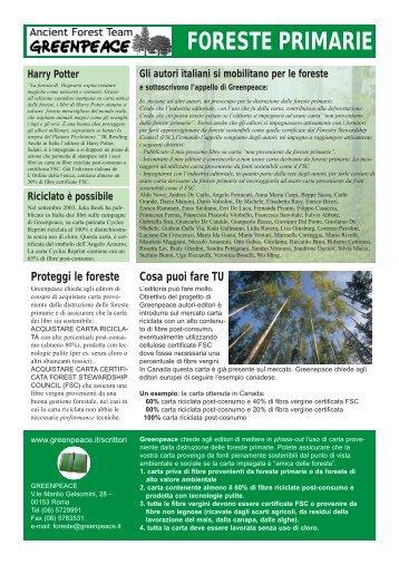 FORESTE PRIMARIE - Greenpeace Italia