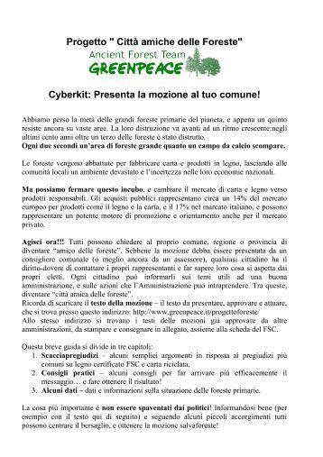 Progetto Amici delle Foreste - Greenpeace Italia