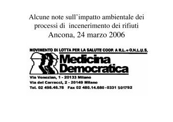 Ancona, 24 marzo 2006 - Greenpeace Italia