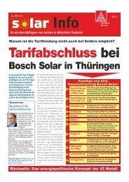 Tarifabschluss bei Bosch Solar in Thüringen Warum ist ... - IG Metall