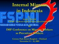 Internal Migration in Indonesia