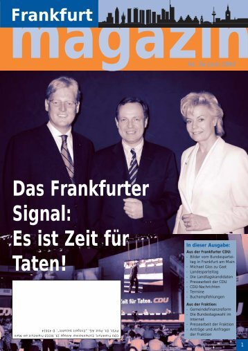 Nr.36 Juni 2002 - CDU-Kreisverband Frankfurt am Main