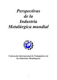 Perspectivas de la Industria Metalúrgica mundial
