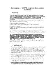 Estrategias de la FITIM para una globalización alternativa