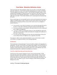 Tutor notes: Education Reflection Action (pdf)