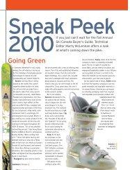sneak peek 2010 - Ski Canada Magazine