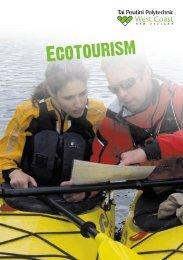 Ecotourism - Tai Poutini Polytechnic