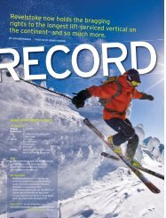 record holder - Ski Canada Magazine