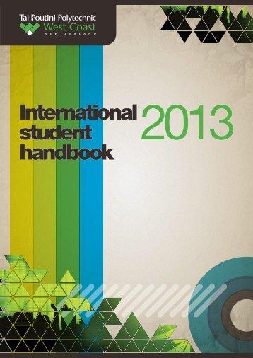 International student handbook - Tai Poutini Polytechnic