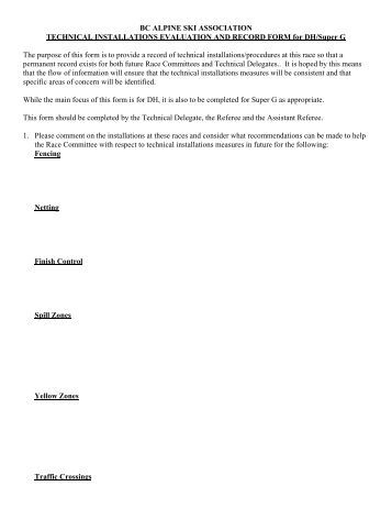BC ALPINE SKI ASSOCIATION