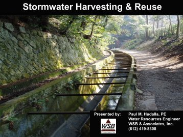 Stormwater Harvesting & Reuse - Carver County