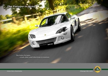 The Europa in brief The Europa in brief - Lotus Cars Australia