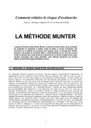 méthode Munter - Association Nationale des Médecins du Secours ...