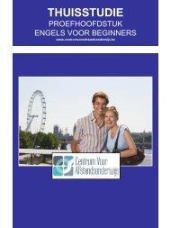 ENGELS VOOR BEGINNERS - Ondernemersschool