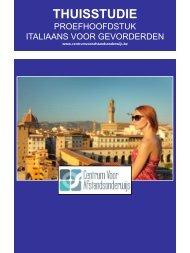 ITALIAANS VOOR GEVORDERDEN - Ondernemersschool