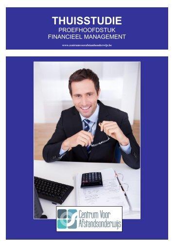CURSUS FINANCIEEL MANAGER - Ondernemersschool