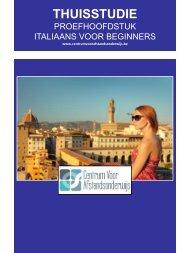 ITALIAANS VOOR BEGINNERS - Ondernemersschool