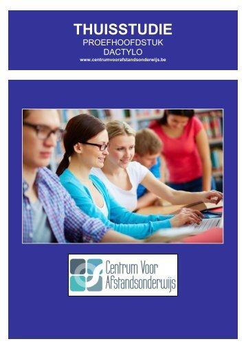 CURSUS DACTYLOGRAFIE - Ondernemersschool