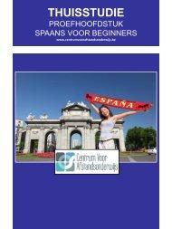 SPAANS VOOR BEGINNERS - Ondernemersschool